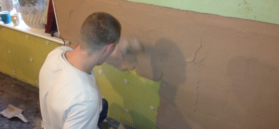 damp proofing membrane installation